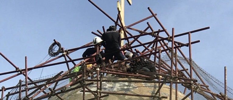 Ремонт кровли Троицкого храма на Пхукете